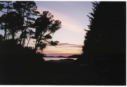 sunset over Tofino
