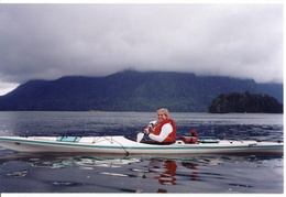 Johanna sea kayaking Ucluelet Harbour
