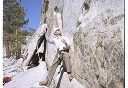 Jim on belay