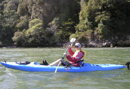 Roland sea kayaking Tomales Bay