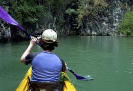 Sea Kayaking in the mangrove forests around Ao Nang