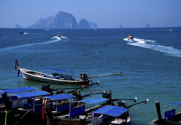 long Tail boats around Ao Nang