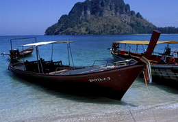 long Tail boat in the Andaman Sea