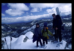Lisa, Jim & Dave at the summit