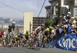 Riders cresting the King of the Hill