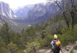 Jim looking across Yosemite Valley
