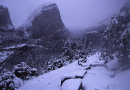 clouds and snow on the John Muir Trail