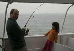 Dan & Maggie hook one on the ferry ride
