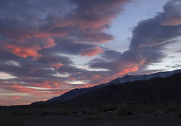 Sunset over the Eastern Sierra