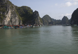 floating fishing village, Ha Long Bay