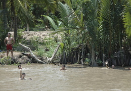 swimmers in the Meekong Delta