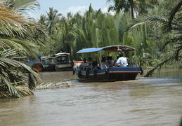 boat tour of canals along the Meekong