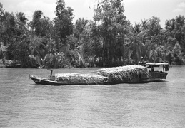 cargo boats on the Meekong