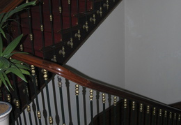 stairwell in the Riverside Hotel