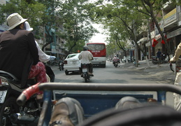 viewing Ho Chi Minh from the seat of a cyclo