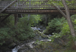creek and bridge