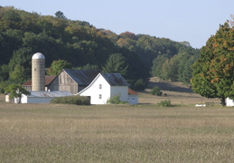 Barn in early fall