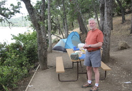 camping at Lake Berryessa