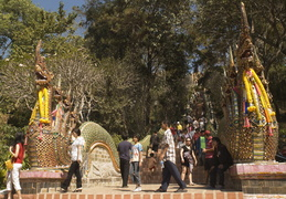 Dragons line the stairway to Doi Suthep