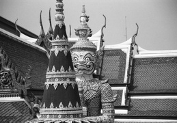 Palace guardians & statues