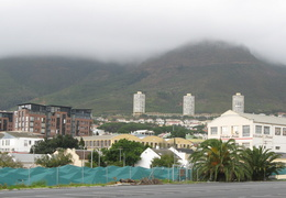 Cape Town & Table Mountain under a cloud of fog
