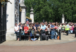Crowds await the changing of the guard