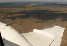 In the air over Namibia