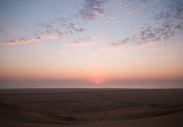 Sunset on the Skeleton Coast