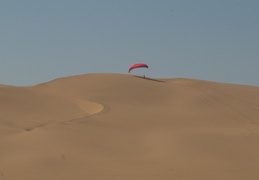 Paraglider on the dunes
