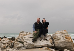 Christian & Meghan at the Southern-most point in Africa