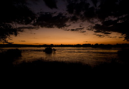 Sunset along the Zambezi river