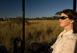 Meghan on a game drive