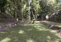 ball court at Caracol Mayan ruins