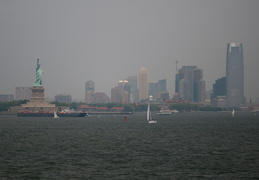 Statue of Liberty and Jersey City
