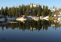 Morning reflections on Granite Lake