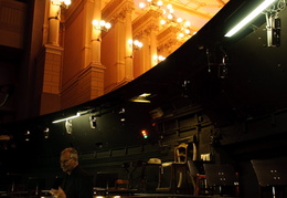Orchestra pit in the Wagner Opera house