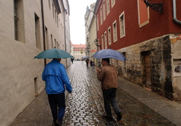 rainy day in Wittenberg