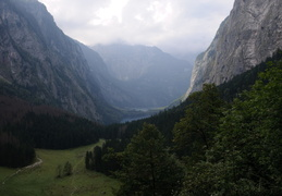 looking back to Obersee and Konigsee