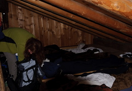 sleeping quarters in the Wasseralm hut