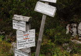 signpost in the German Alps