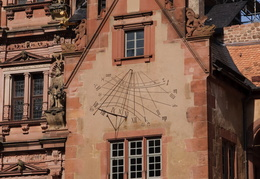 sun dial on the Heidelberg castle