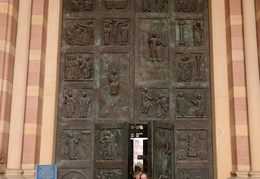 carved doors, Imperial Cathedral in Speyer
