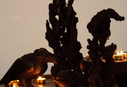 candles and carvings, Speyer