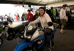 Meghan tries the new KLR 650