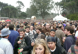 crowds trying to get around at Outside Lands