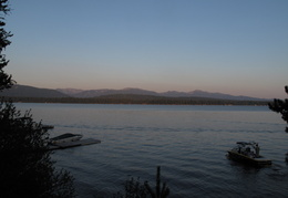 Payette lake at sunset