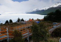 walkways under construction at Perito Mereno glacier