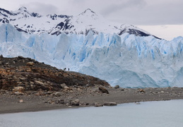 hikers in front of the Perito Moreno glacier