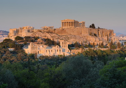 Acropolis as the sun begins to set