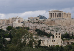 Acropolis with Lykavittos hill in the background